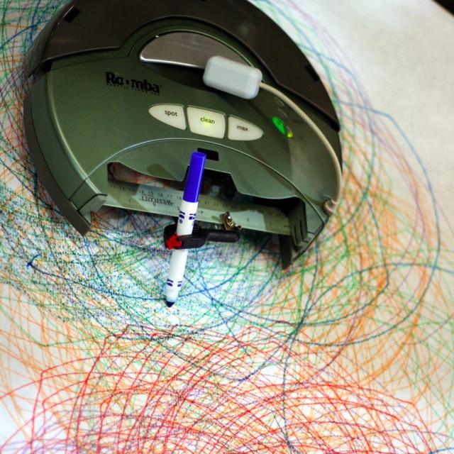 Roomba hack Spirograph